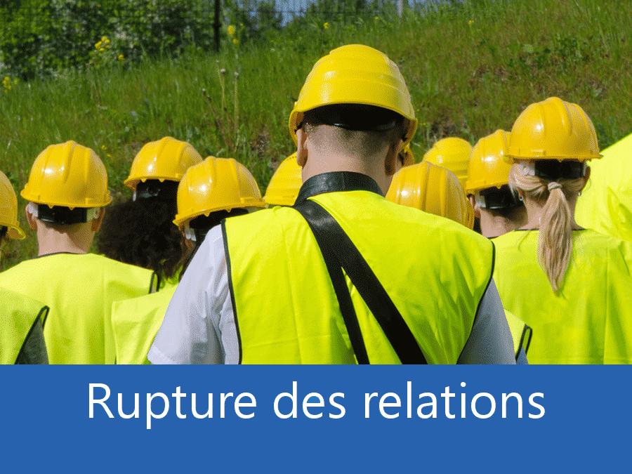 rupture des relation chantier 69, problème durant le chantier Lyon, stress chantier Villefranche, problème durant le chantier Rhone,
